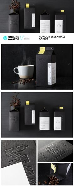The Dieline Awards 2017 Outstanding Achievements: HONOUR Essentials Coffee — The Dieline | Packaging & Branding Design & Innovation News