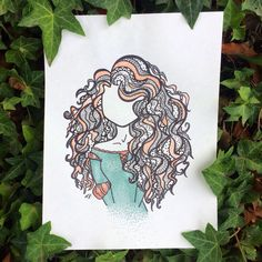 Drawing Disney Hair Merida Ideas For 2019 Disney Doodles, Disney Kunst, Disney Art, Disney Drawings, Cute Drawings, Dibujos Zentangle Art, Mode Poster, Pinturas Disney, Doodle Art