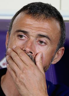 FC Barcelona head coach Luis Enrique looks on during the preseason friendly match between ACF Fiorentina and FC Barcelona at Artemio Franchi on August 2, 2015 in Florence, Italy.