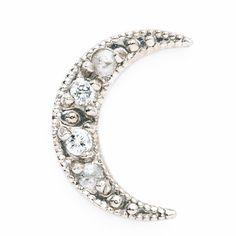 diamond moon earring • Lena Wald