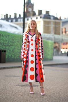 Kate Foley in Valentino. See the best street style looks at London Fashion Week right here: