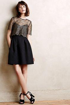 Goldspun Lace Dress - anthropologie.com