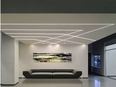 13 Attractive Minimalist Ceiling Design Ideas For Beauty in Your Home Interior — Decor & Design House Ceiling Design, Ceiling Design Living Room, Ceiling Light Design, Home Ceiling, Living Room Designs, House Design, Gypsum Ceiling Design, Linear Lighting, Lighting Design