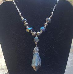 Mystic Rainbow Spectrolite Labradorite necklace by StoneworksByJan