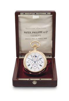 """La plus ancienne montre """"Grand Complication"""" de Patek Philippe aux enchères Christie's New York http://www.vogue.fr/joaillerie/le-bijou-du-jour/diaporama/la-plus-ancienne-montre-grand-complication-de-patek-philippe-aux-encheres-christie-s-new-york/13746#!3"""