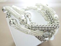Chainmaille Beaded Persian Pearls Bracelet Necklace