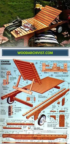 DIY Sun Lounge - Outdoor Plans and Projects | WoodArchivist.com