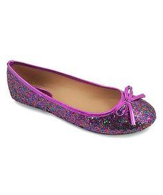 365d94912c69 Ositos Shoes Purple Glitter Bow Flat