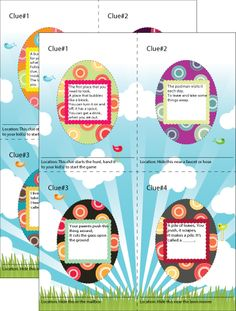 Easter-Scavenger-Hunt?..sooo cute can have up to 20 clues....fun to do with the kiddos