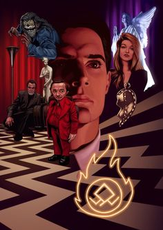 Fire walk with me. Twin Peaks illustrated by Gael Bertrand Twin Peaks Tattoo, David Lynch Twin Peaks, Kyle Maclachlan, Love Twins, Laura Palmer, Between Two Worlds, Cinema, Favorite Tv Shows, Tv Series