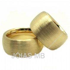 Alianças de Ouro Redonda Super Grossa - 15mm