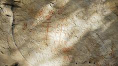 Pinturas rupestres, no Parque Nacional de Sete Cidades