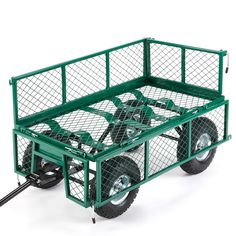 VonHaus All-Terrain Heavy Duty Garden Trolley Wheel Barrow Cart Load Capacity 771lbs/350kg (Ideal for Camping & Festivals) - With Steering & Fold Down Sides and Off-Road Tyres: Free 2 Year Warranty: Amazon.co.uk: Garden & Outdoors