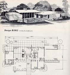 Beth and Carl: Mid Century house plan