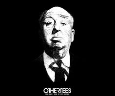 """Shadows of Suspense"" by MMARCIN T-shirts, Tank Tops, V-necks, Sweatshirts and Hoodies are on sale until April 4th at www.OtherTees.com #tshirt #othertees #clothing #alfredhitchcock #hitchcock #horror #suspense #thiller"