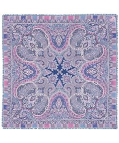 Liberty London Red Lasenby Cashmere and and Silk-Blend Paisley Scarf | Accessories | Liberty.co.uk