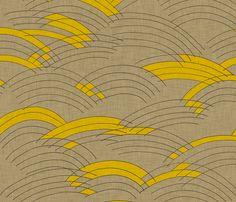 cloud_lines_linen fabric by holli_zollinger on Spoonflower - custom