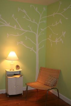 This is supposed to be for a kids room, but I think it would look beautiful in a spare bedroom.