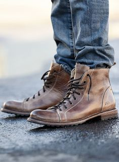 e1d719a5dd Dark brown leather lace up boot by BEDSTU. Pair with your favorite denim.