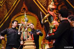 The Bangkok Traditional Puppet Show at Aksra Theatre is one of Bangkok's must-see attractions. Taking place on an elaborate stage, folk tales are told through the classic art of puppetry. Rather than being hidden away, the puppeteers are very much part of the show. Three puppeteers control