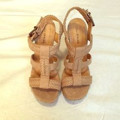 Tan wedge sandal Tan wedge sandal by Call It Spring. Very comfortable. Call It Spring Shoes Wedges