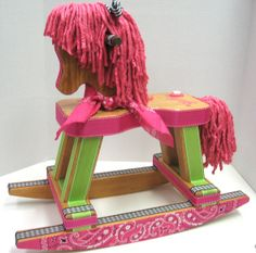 Rocking Horse Cowgirl Style  FREE SHIPPING by RibbonMade on Etsy, $150.00 Cowgirl Up!