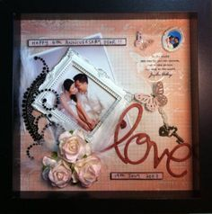 Wedding scrapbook ideas... One of these days I swear I'll get around to making one!