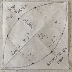 Make your own Orange Peel template Patchwork Quilt Patterns, Scrappy Quilts, Mini Quilts, Applique Quilts, Quilting For Beginners, Quilting Tips, Quilting Tutorials, Quilting Templates, Quilting Designs