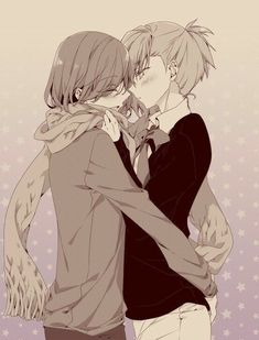Kotobuki Reiji & Mikaze Ai Uta No Prince Sama, Japanese Men, Perfect Couple, Anime Couples, Fangirl, Illustration, Artwork, Cute, Night