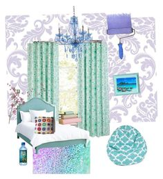 """""""Lilac and Mint"""" by abigail7121 ❤ liked on Polyvore featuring interior, interiors, interior design, home, home decor, interior decorating, WallPops, Redford House, Clayton and AF Lighting"""