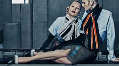 Kate Moss & Lara Stone by Steven Klein for Balenciaga Fall/Winter 2015/2016 Campaign
