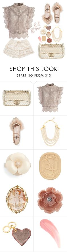 """Lace Pearl"" by aster-rubidus ❤ liked on Polyvore featuring Chanel, Chicwish, Miu Miu, DIANA BROUSSARD, Alexandre de Paris, Diptyque, Miss Selfridge and Burberry"