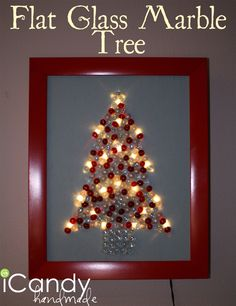 icandy handmade: (tutorial) Flat Glass Marble Tree