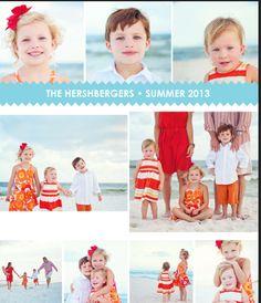 red orange family photo