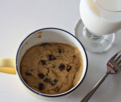 """Cookie in a mug.  Great amount for one person. There are also links to other """"in a mug"""" recipes!"""