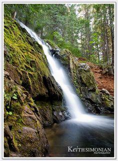 Lake-Jenkinson-Sly-Park - Waterfall that flows into the lake