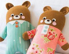 Pajama Bear Softies Toy Sewing Pattern Download 803947