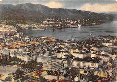 """"""" Bergen """" , et postkort fra midten av -30årene .  Normanns Kunstforlag AS , Oslo. Foto : Normann serie nr 220."""