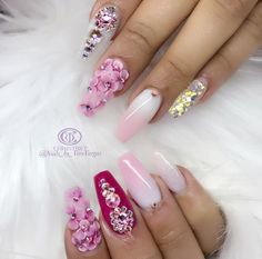 In order to provide some inspirations for nails red colors for your long nails in this winter, we have specially collected more than 80 images of red nails art designs. Elegant Nail Designs, 3d Nail Designs, Creative Nail Designs, Elegant Nails, Creative Nails, Fancy Nails, Red Nails, Cute Nails, Pretty Nails