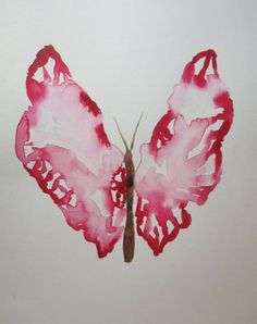 Original watercolor painting of a butterfly