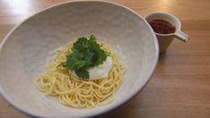 Egg Noodles with Poached Egg and Chilli Oil Masterchef Recipes, Homemade Egg Noodles, Dried Chillies, Shrimp Paste, Pasta Machine, Fusion Food, Egg Dish, Network Ten, Poached Eggs