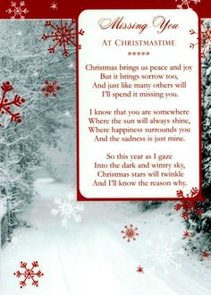 In Memory Of Someone Special At Christmas Time. | Quotes | Pinterest | Christmas  Time, Memorial Quotes And Verses