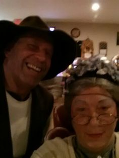 Halloween 2015 Jed &granny Clampett