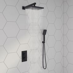 The white bathroom attracts with simplicity, purity and timeless elegance. If you are thinking of decorating your bathroom all in white. Modern White Bathroom, Rustic Bathrooms, Black Bathroom Taps, Black Bathrooms, Bathrooms Decor, Bathroom Styling, Bathroom Interior Design, Hexagon Tile Bathroom, Mosaic Tiles