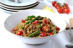 Sun-Dried Tomato Pesto & Asparagus Quinoa Salad