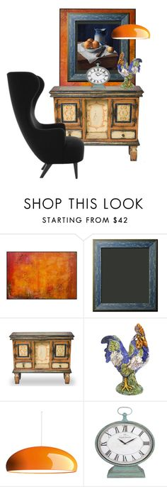 """""""Home decor color punch blends vintage with modern"""" by linda-caricofe ❤ liked on Polyvore featuring interior, interiors, interior design, home, home decor, interior decorating, Ceramiche Pugi, FontanaArte, Tom Dixon and modern"""
