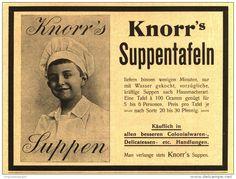 Original-Werbung/Inserat/ Anzeige 1902  : KNORR´S SUPPENTAFELN ca. 180 x 110 mm
