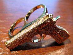 Gun Two-Finger Ring