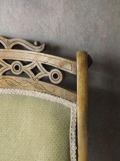 Chaise de salon formel Eastlake. Chaise pliante par 3vintagehearts