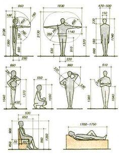 The human form in design - ergonomics Architecture Details, Interior Architecture, Sketch Architecture, Human Dimension, Design Textile, Design Reference, Pose Reference, Building Design, Planer